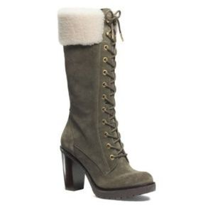 Micheal Kors Lace Up Boot